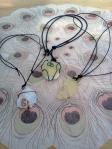 druzy quartz and copper pendants