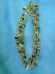 Jade, quartz & rhodonite with copper necklace