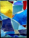 mosaic blue abstraction
