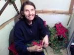 Diane making cedar wreaths